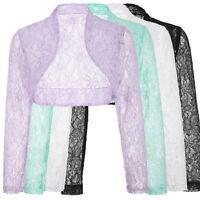 SALE!!  Long Sleeve LACE Cropped Bolero Shrug Cardigan Jacket Crop Top Plus Size