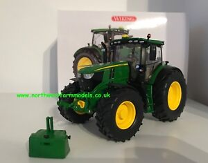 Wiking-echelle-1-32-John-Deere-Modele-6250R-tracteur-avec-poids-En-parfait-etat-dans-sa-boite