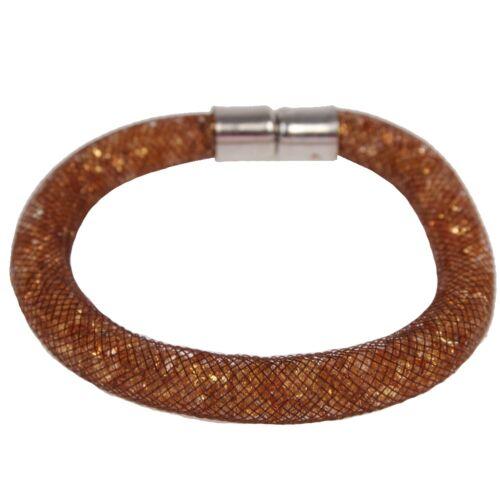 Stardust Armband Netzschlauch Armschmuck Strass Netzarmband Magnet Zirkonia