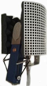 microphone shield isolation screen reflection filter portable vocal booth ebay. Black Bedroom Furniture Sets. Home Design Ideas