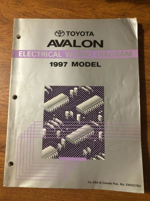 1997 Toyota Avalon Oem Evtm Electrical Wiring Diagram Service Manual Book