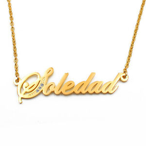 Sabrina Name Necklace Gold Tone Valentines Birthday Christmas Gift for Her