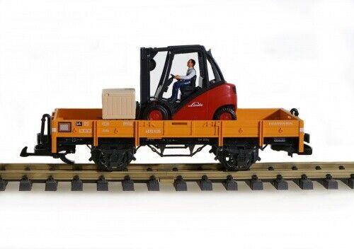 Lgb Vagón de Bordes Bajos con Lectura, Escala G Tren de Jardín
