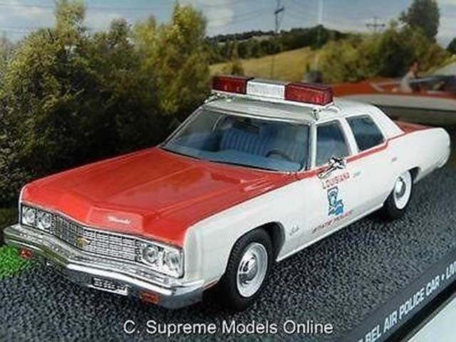 JAMES BOND CHEVROLET BEL AIR LIVE & LET DIE POLICE CAR 1 43 SCALE ISSUE K867Q