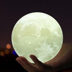 Image Is Loading 3D Moon Lamp USB LED Night Lunar Light