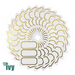 90-Autocollantes-etiquettes-Jam-Jar-etiquettes-conserves-Chutney-34-x-75-mm-Ivy