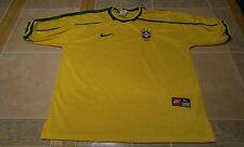 Brazil National Soccer Team Jersey Shirt Home Nike Vintage Mens Large 90s Rare