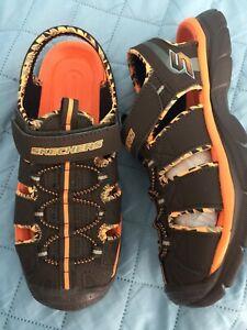63fe49a858ea Image is loading Skechers-Relix-Trophix-Chocolate-Bungee-Lace-Sandals-sz-