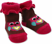 Izzy & Owie Baby Girl Fashion Socks 0-12 Month Pink Brown Owl Izzie
