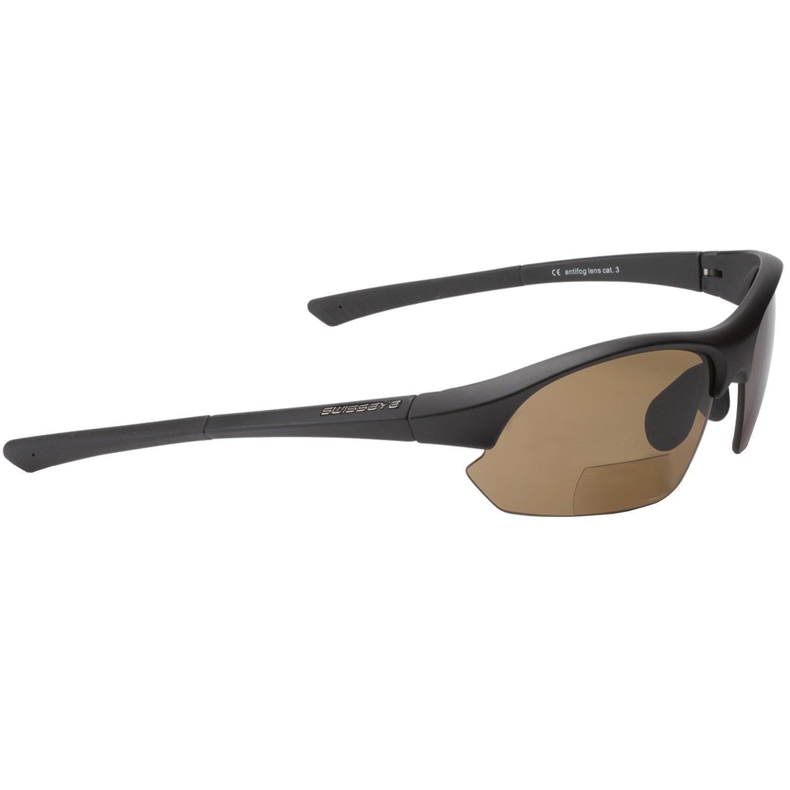 Swisseye Fahrrad Sport Brille Slide Bifocal brown 2,5 dpt Wechsel Scheiben Klar