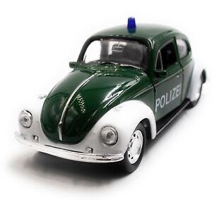 VW-Escarabajo-policia-Beetle-maqueta-de-coche-auto-verde-escala-1-34-con-licencia-oficial