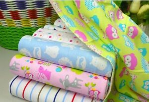 1x-Carters-100-Cotton-Flannel-Baby-Girl-Boy-Blanket-Sheet-Cot-Bed-Pram-76x76cm