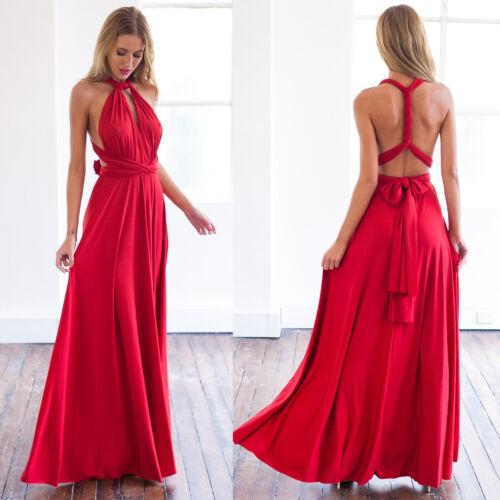 Women Evening Dress Convertible Multi Way Wrap Bridesmaid Formal Long Dresses