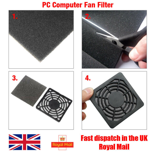 PC Computer Fan Dust Proof Filter Foam Sheet, 3mm Thick, 25cm x 25cm (625cm²)