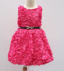Clothes, Shoes & Accessories H&m Red Sparkly Party Dress Girls Age 4-6 Years