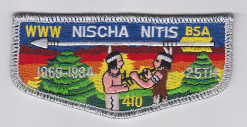 OA NISCHA NITIS LODGE 410 25TH ANNIV 1994 FLAP PATCH USA BOY SCOUTS OF AMERICA
