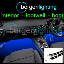 2X 375MM BLUE INTERIOR UNDER DASH/SEAT 12V SMD5050 DRL MOOD LIGHTING STRIPS