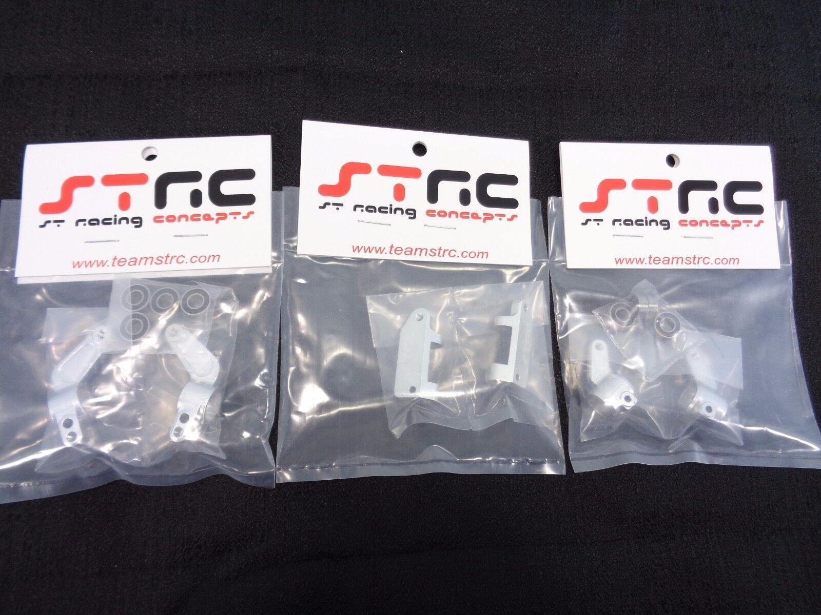 Traxxas Slash Rustler STRC aluminio Bloques de dirección nudillos eje portador Caster