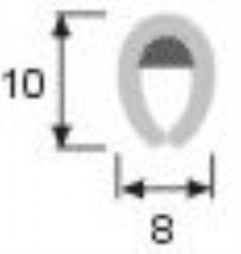 10 x 8mm SATIN Black /'U/' Channel Edge Trim by the metre