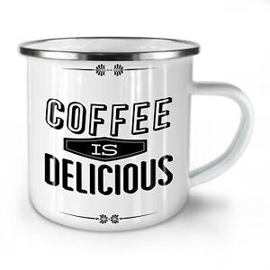 Coffee Delicious Slogan NEW Enamel Tea Mug 10 oz | Wellcoda