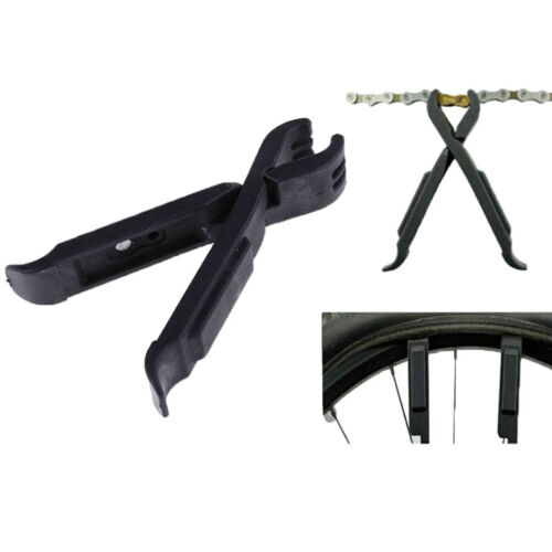 2 in 1 Bike Tire Levers Master Link Chains Pliers Bicycle Wheel Pry Repair To Vy
