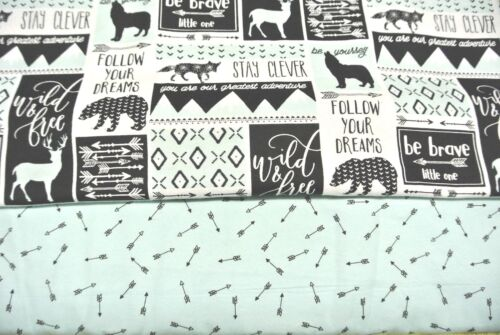 Baby Blanket 2 Burp Cloth Set Bear Wolf Deer Fox Dreams Can Be Personalized