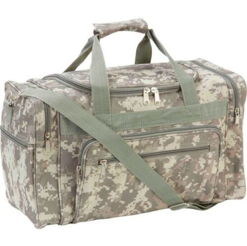 DUFFLE TOTE BAG GYM MILITARY ARMY DIGITAL CAMO TRAVEL TACTICAL LUGGAGE 18 INCH
