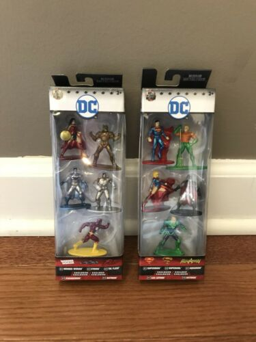 DC Comics Nano Metalfigs Lot of 10 Figures Pack A /& Pack B w// Exclusives sets
