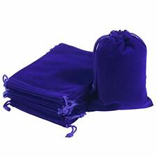 20pcs Velvet Jewelry Bags 47 X 67 Inch Blue Cloth Gift Drawstring Pouches B