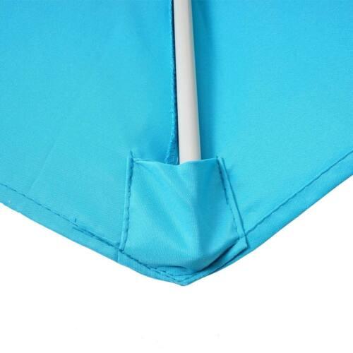 UV 50+ 260cm turquesa mitad paraguas balcón paraguas Alu-sombrilla semicircular Lorca