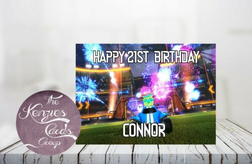 Personalised ROCKET LEAGUE Gamer Birthday Card-A5 260gsm Gloss Finish V4