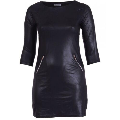 In Tunika Sexy Für kleid Damen Tunika optik Leder X8XSqw1