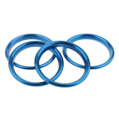 Blue Car Air Vent Outlet AC Ring Trims 4 Pack For Audi A3 S3 2013-2016