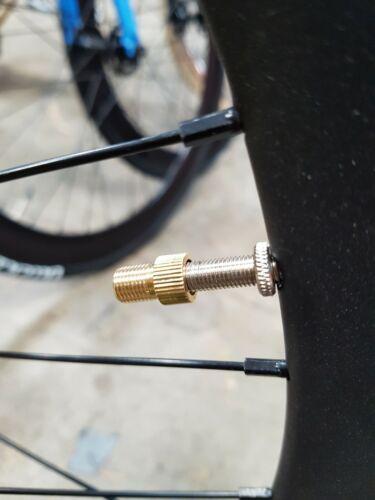 2x Bicycle Presta to Schrader Valve Adaptor