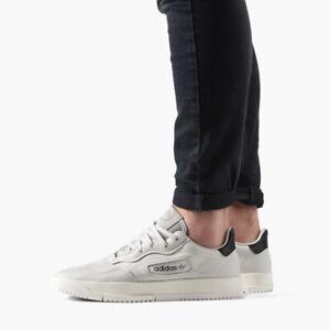 adidas originals white super court premiere sneakers