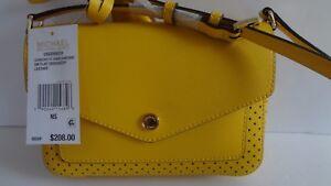 40b82d7d9c9666 NWT Michael Kors Greenwich Small Flap Crossbody Bag Sunflower Orig ...