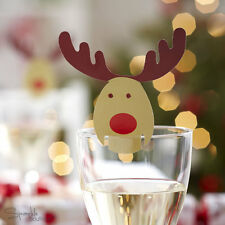 ROCKING RUDOLPH Christmas Glass Decorations/Place Name Cards-FULL RANGE IN SHOP!