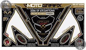 Triumph Daytona 675 06 - 09 Front Fairing Number Board Motografix Gel Protector