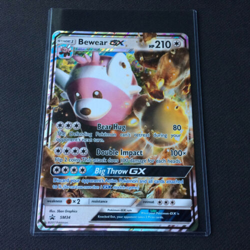TOPLOADER OVERSIZED Pokemon Card BEWEAR GX JUMBO Promo SM34