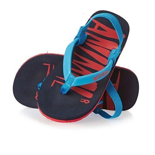 Animal Toddler Boys Goofey Flip Flops in Indigo Blue