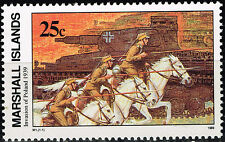 Marshall Isl WW2 German Invasion of Poland in 1939 rare stamp MNH
