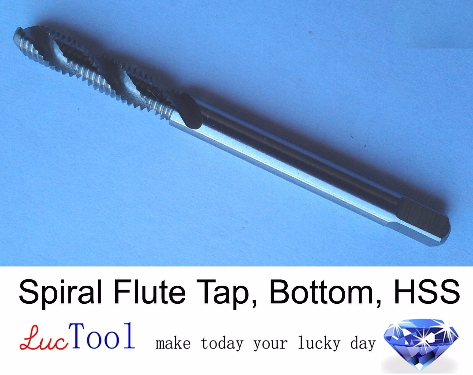 6-40 UNF Spiral Point Tap Plug GH2 Limit 2 Flute HSS Gun Tap Uncoated Thread