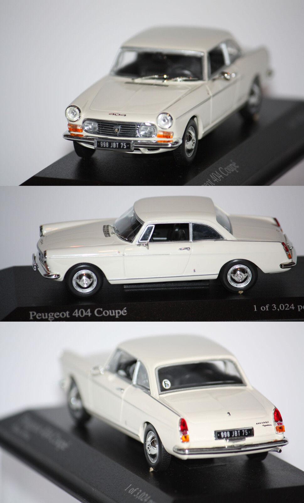 Minichamps Peugeot 404 Coupé 1962 Creme 1 43 400112620