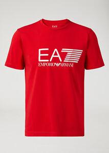 T-shirt-Uomo-Emporio-Armani-EA7-3ZPT62-PJ03Z-Maglia-Cotone-Nera-Rossa-Blu-Nuova