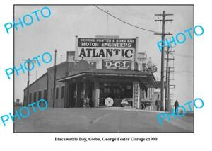 OLD-8x6-PHOTO-GLEBE-NSW-GEORGE-FOSTER-GARAGE-ATLANTIC-OIL-PURR-PULL-c1930