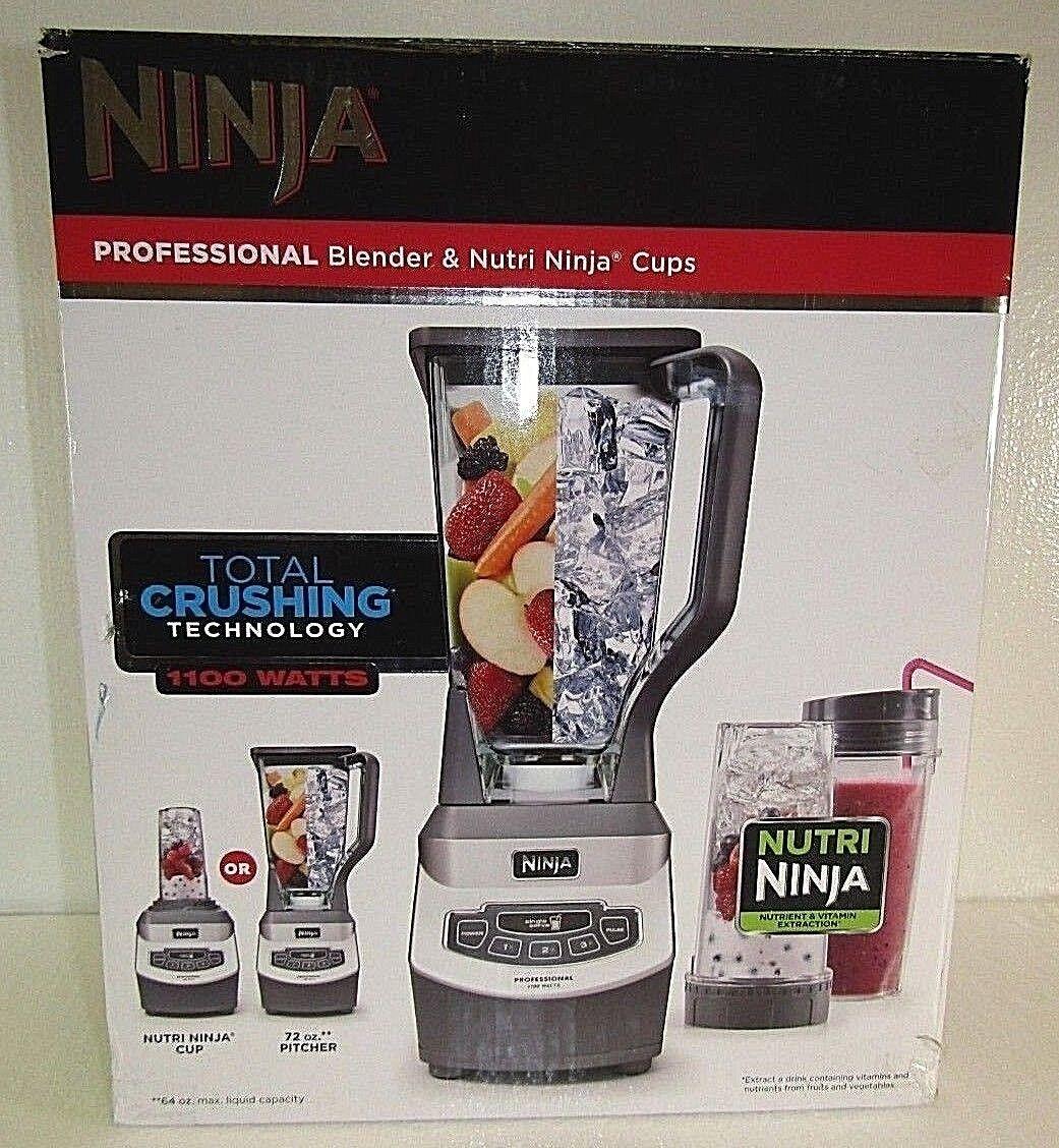 Ninja BL660B 1100W Professional Blender & 2-Nutri Ninja Cups NEW OPEN BOX