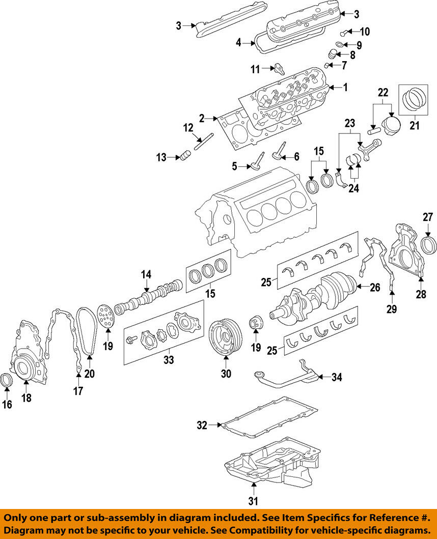 Gm Oem Engine Crankshaft Crank Main Bearing 89017571 Ebay Ly6 Diagram Norton Secured Powered By Verisign