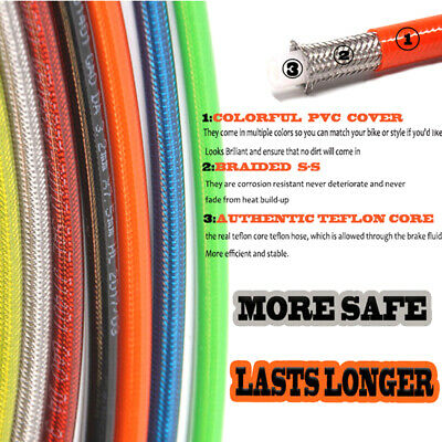 To 2200mm Oil Hoses Reinforced Clutch Hydraulic Pipe Motorcycle Brake Line