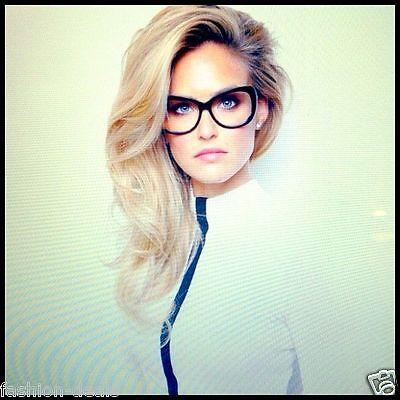 """BAR"" Clear Lenses TORTOISE BROWN Cat Eye Women Eyeglasses Glasses Eyewear"