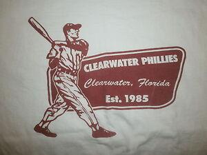 2xl Clearwater Phillies T-shirt Minor Ligue Baseball Threshers Philadelphia Xxl